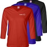 CL174<br>Ladies' 3/4 Sleeve Premium Jersey Tee