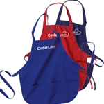 CL176<br>Medium Length Apron with Pouch Pockets