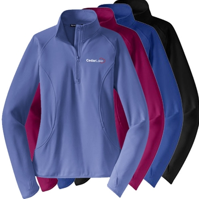 CL150<br>Ladies Sport-Wick 1/4 Zip Stretch Fleece