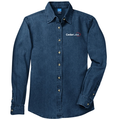 CL189<br>Ladies Denim Shirt