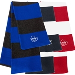 CL208<br>Rugby Striped Knit Scarf